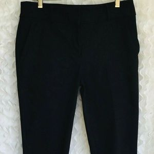 Ann Taylor Loft Dress Pants Size 10 Tall Black Zip
